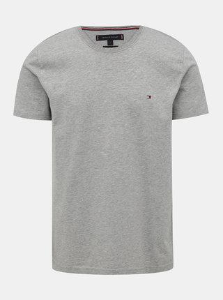 Šedé pánske basic tričko Tommy Hilfiger