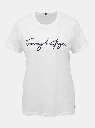 Bílé dámské tričko s potiskem Tommy Hilfiger Heritage
