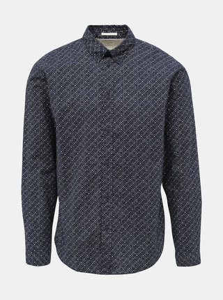 Tmavě modrá vzorovaná slim fit košile Selected Homme Howard