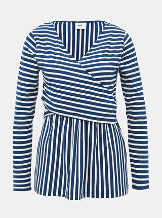 Bílo-modré pruhované těhotenské/kojicí tričko Mama.licious Otilia