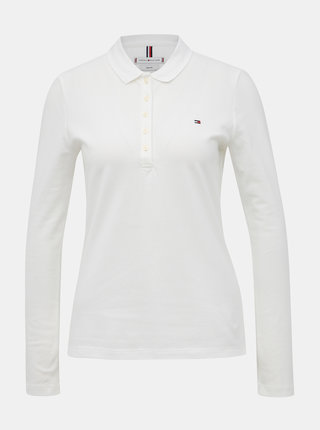 Bílé dámské basic polo tričko Tommy Hilfiger Heritage