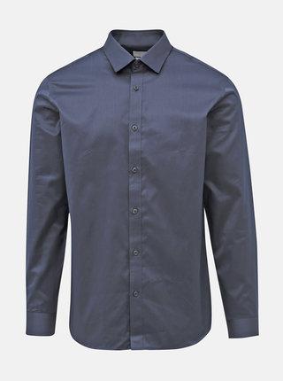 Tmavomodrá slim fit košeľa Selected Homme Pelle Santiago