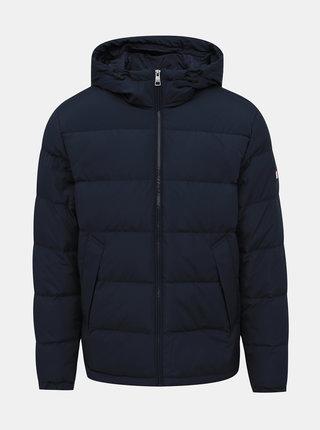 Tmaomodrá pánska zimná bunda Tommy Hilfiger