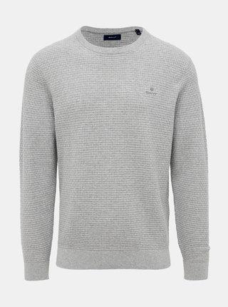 Šedý pánsky sveter GANT