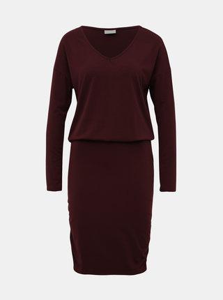 Vínové púzdrové šaty VILA Nico