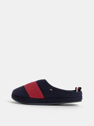 Tmavomodré pánske papuče Tommy Hilfiger