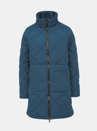 Modrý prošívaný zimní kabát Noisy May Malcom