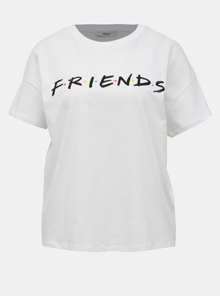 Bílé tričko ONLY Friends