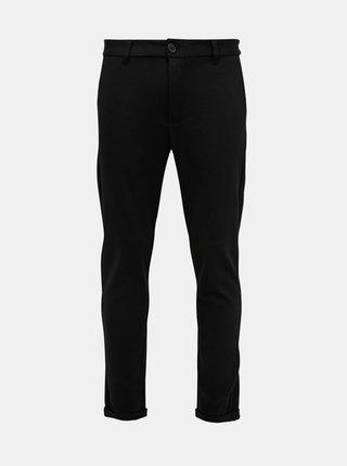 Černé zkrácené chino kalhoty Lindbergh
