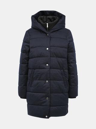 Tmavě modrý prošívaný kabát ONLY Vikki