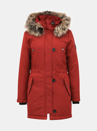 Červená zimní parka ONLY Liris