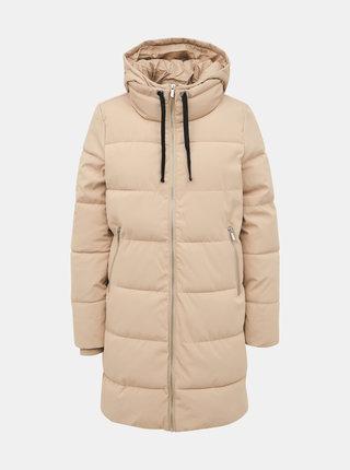 Béžový prošívaný kabát ONLY Lalana
