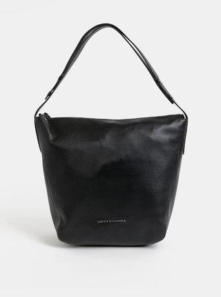 Čierna kožená kabelka Smith & Canova