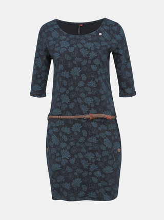 Tmavě modré květované šaty Ragwear Tanya Flowers