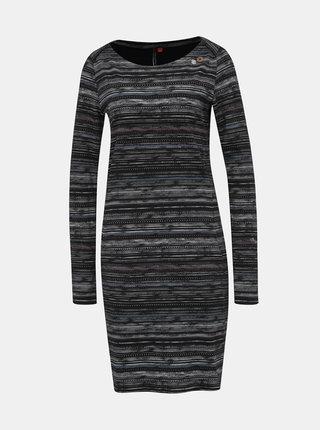 Černé vzorované šaty Ragwear River print