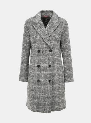 Šedý kostkovaný kabát Yest