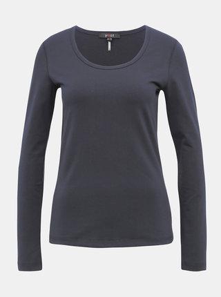 Tmavě modré basic tričko Yest