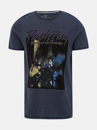 Tmavě modré tričko s potiskem Jack & Jones Brayden
