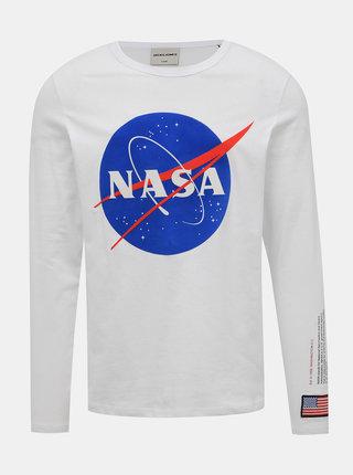Biele tričko s potlačou Jack & Jones Carlo NASA