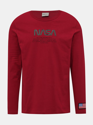 Červené tričko s potlačou Jack & Jones Carlo NASA