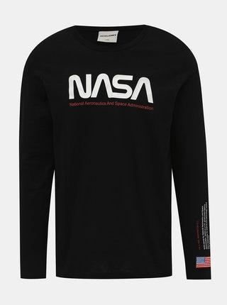 Černé tričko s potiskem Jack & Jones Carlo NASA