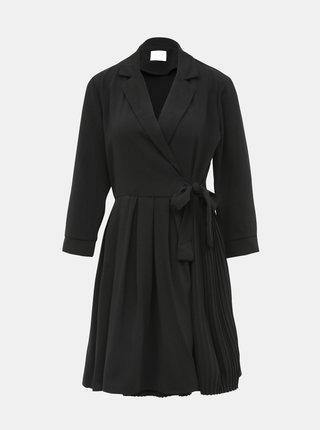 Čierne zavinovacie šaty VILA Dwell