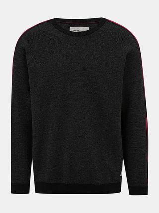 Tmavošedý sveter s pásom Jack & Jones Charles