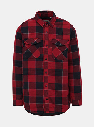 Červená kockovaná bunda Jack & Jones Hubart