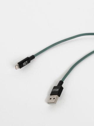 Zelený nabíjecí kabel na iPhone Design Letters 1 m