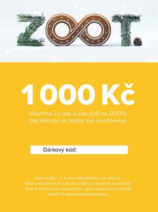 Vánoční elektronický poukaz na ZOOT v hodnotě 1 000 Kč