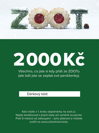 Vánoční elektronický poukaz na ZOOT v hodnotě 2 000 Kč