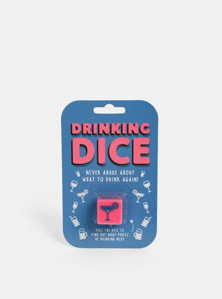 Růžová hrací kostka Gift Republic Pití