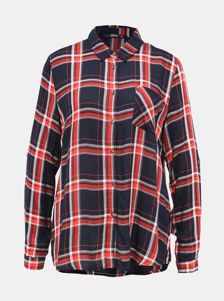 Červeno-modrá kockovaná košeľa ONLY London