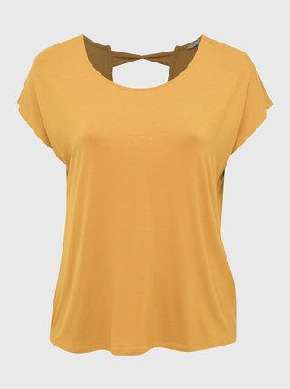 Hořčicové tričko ONLY CARMAKOMA Christiane