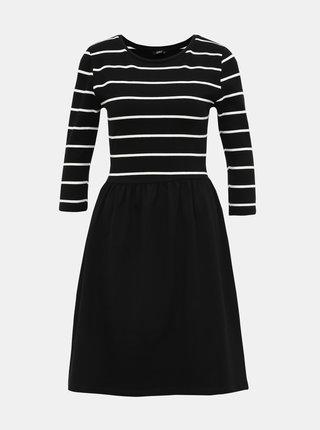 Čierne pruhované šaty ONLY Amber
