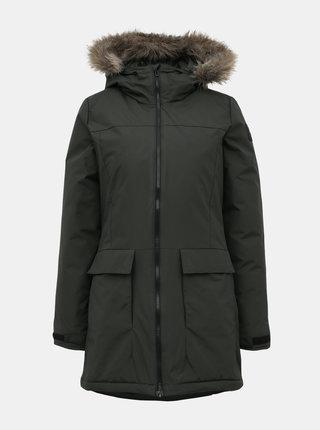 Tmavozelená dámska zimná bunda adidas Performance Xploric