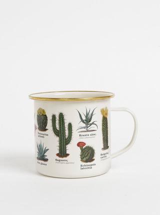 Krémový plecháčik s motívmi kaktusov Gift Republic