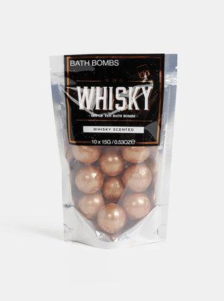 Sada deseti kuliček do koupele s vůní whisky Gift Republic