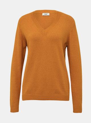 Hořčicový basic svetr Jacqueline de Yong Marco