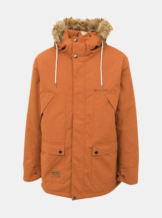 Hnedá pánska funkčná zimná bunda Meatfly Rodney