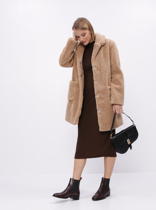 Hnedé svetrové midi šaty Dorothy Perkins