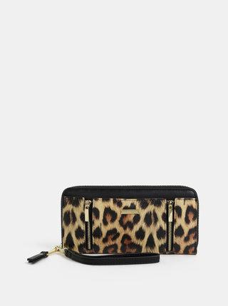 Hnědá peněženka s leopardím vzorem Gionni