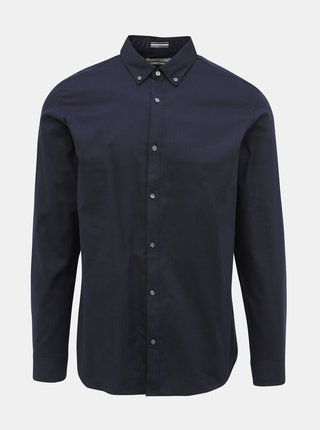 Tmavomodrá slim fit košeľa Jack & Jones Focus