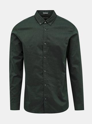 Tmavozelená slim fit košeľa Jack & Jones Focus