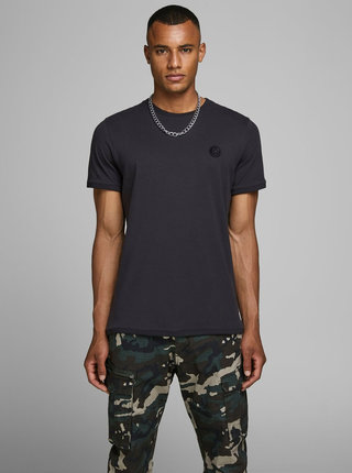Černé slim fit tričko Jack & Jones Booker