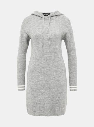 Svetleošedé svetrové šaty TALLY WEiJL