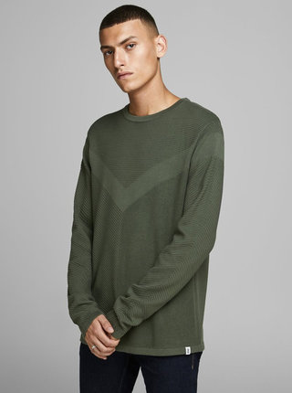 Zelený basic sveter Jack & Jones Moon