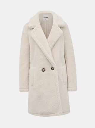 Bílý kabát z umělé kožešiny TALLY WEiJL