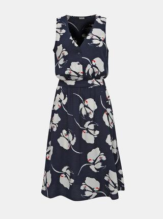 Tmavě modré květované šaty Jacqueline de Yong Layla