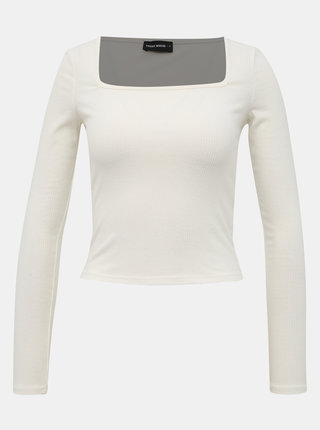 Biely crop top TALLY WEiJL